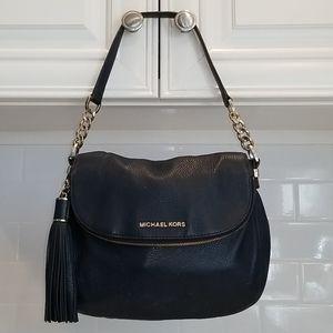 Michael Kors Navy Bedford Flap Convertible Bag